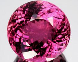 13.30 Cts Natural Pink Tourmaline Beautiful Round Cut Mozambique