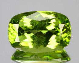 Amazing!!! 3.70 Cts Natural Peridot Stunning Green Cushion Pakistan