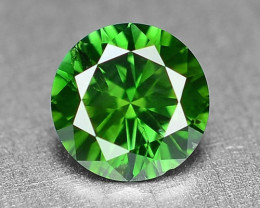 0.27 Cts  Sparkling Rare Fancy  Green Color Natural Loose Diamond