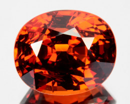 5.33 Cts Natural Spessartite Garnet Orangish Red Oval Cut Namibia