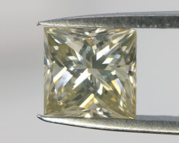 Square Brilliant Cut Diamond , 0.38 cts