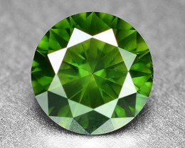 0.36 Cts Sparkling Rare Fancy  Green Color Natural Loose Diamond