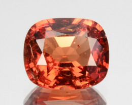 1.30 Cts Natural Orangish Red Spinel Cushion Cut Burmese