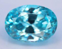 AAA Brillience 2.90 ct Vibrant  Blue Zircon From Cambodia ~G