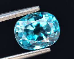 AAA Brillience 2.40 ct Vibrant  Blue Zircon From Cambodia ~G