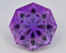 Top Color 17.15 ct AAA Cut Untreated Amethyst