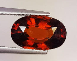 4.47 ct Excellent Gem Oval Cut Top Luster Hessonite Garnet