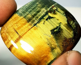 49.64 ct  Natural Tiger Eye Octagon Cabochon Gemstone