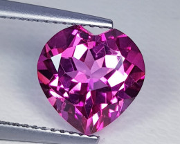 4.05 ct Exclusive Gem Stunning Heart Shape Natural Pink Topaz