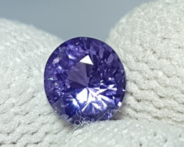 NO HEAT 1.08 CTS CERTIFIED NATURAL STUNNING VIOLET BLUE SAPPHIRE SRI LANKA