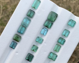 16.50 Carats blue and green color Tourmaline Gemstones parcel