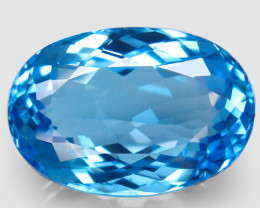 43.94 ct. Natural Top Quality Swiss Blue Topaz Brazil – IGE Certificate