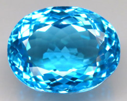40.91 ct. Natural Top Quality Swiss Blue Topaz Brazil – IGE Certificate