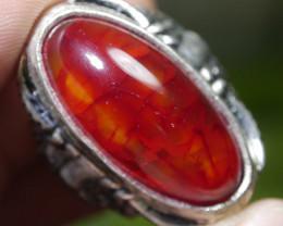 79.10 CT Beautiful Red Dragon Skin Agate Jewelry Ring