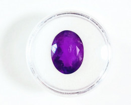 8.05 CT Siberian AMETHYST Faceted Purple Oval Gemstone