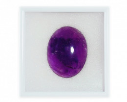 45.00 CT Brazilian AMETHYST Cabochon Deep Purple Domed Oval Gemstone