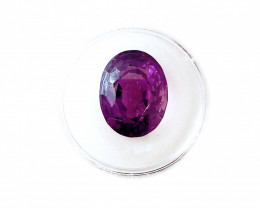 21.35 CT Siberian AMETHYST Faceted Bright Purple Oval Gemstone