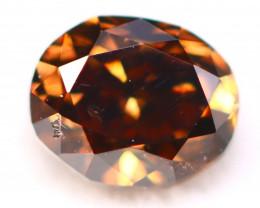 Cognac Diamond 0.31Ct Natural Untreated Fancy Color Diamond C0506