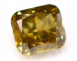 Green Diamond 0.22Ct Natural Untreated Fancy Color Diamond C0510