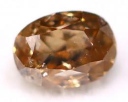 Cognac Diamond 0.24Ct Natural Untreated Fancy Color Diamond C0513