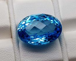 16.75Crt Blue Topaz Natural Gemstones JI92