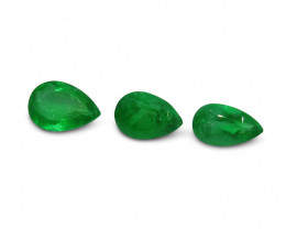 Colombian Emerald 1.49 cts 3st Pear WHOLESALE LOT