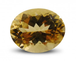 3.43 ct Oval Heliodor/Yellow Beryl