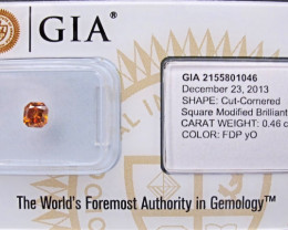 0.46ct Natural Fancy yellowish Orange  Diamond GIA certified