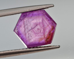 Natural Ruby 3.62 Cts with Hexagonal Pattern from Guinea