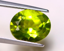 4.02ct Natural Green Peridot Oval Cut Lot V6602