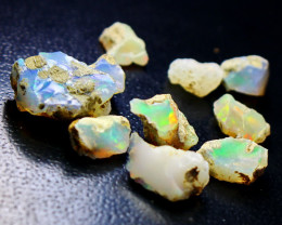 26.40 cts Natural & Unheated  White Opal Rough Lot