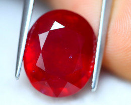 8.80ct Blood Red Color Ruby Oval Cut Lot V6169