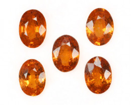 2.80 Cts Natural Fanta Orange Spessartite Garnet Oval Parcel Africa