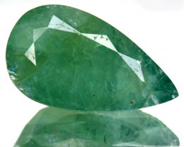 ~RARE~ 3.58 Natural Bluish Green Grandidierite Pear Madagascar