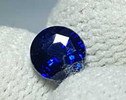 CERTIFIED 1.01 CTS NATURAL STUNNING ROUND MIX ROYAL BLUE SAPPHIRE CEYLON