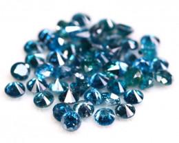 Blue Diamond 1.45Ct 51Pcs 1.80mm Natural Blue Round Cut Diamond BM05