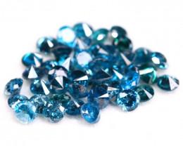 Blue Diamond 1.80Ct 44Pcs 2.10mm Natural Blue Round Cut Diamond BM08