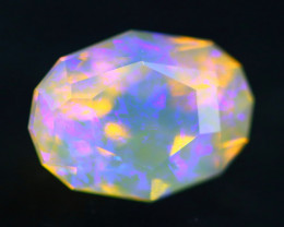 Lightning Ridge Opal 2.01Ct Natural Australian Faceted Crystal Opal BN98