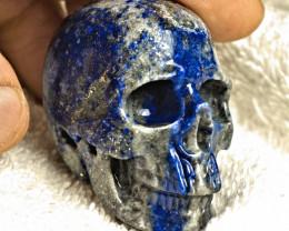 1$NR - 469.0 Carat Lapis Lazuli Skull Carving - Cool