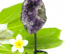 2200 Cts Amethyst Druze Specimen on Stand CF 270