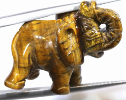 11.35  CTS - CARVING TIGER EYE ELEPHANT  LT- 203