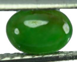 ~UNTREATED~ 1.52 Cts Natural Green Jade Cabochon Burmese Gem