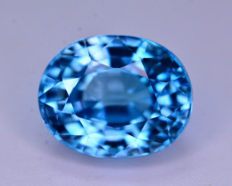 AAA Color 4.95 Ct Natural Vibrant Blue Zircon From Cambodia. RA1