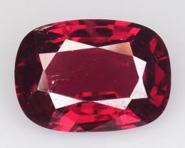 1.57 Ct Natural Pure Red Spinel Sparkiling Luster Gemstone. SPR 07