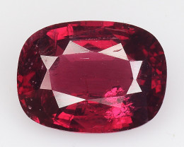 1.33 Ct Natural Pure Red Spinel Sparkiling Luster Gemstone. SPR 15