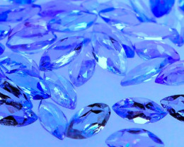 3.90 CT Tanzanite Marquise Melee Lot 55 PC | FREE TRACKED SHIPPING!