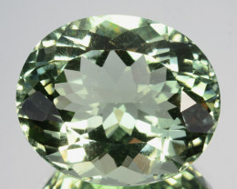 19.32 Cts EXQUISITE NATURAL CUSTOM OVAL CUT GREEN AMETHYST GEM