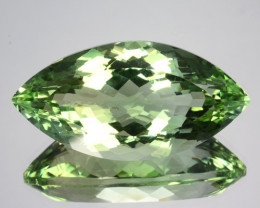 22.44 Cts EXQUISITE NATURAL CUSTOM CUSHION CUT GREEN AMETHYST GEM
