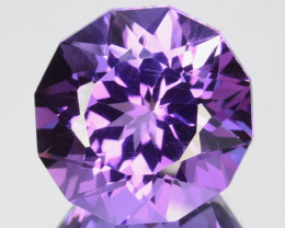 15.00 Cts Gorgeous Natural Purple Amethyst Round Custom Cut