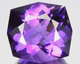 9.27 Cts Gorgeous Natural Purple Amethyst Cushion Custom Cut